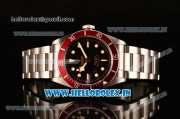 Tudor Heritage Black Bay Swiss ETA 2824 Automatic Steel Case/Strap with Red Bezel and Black Dial - 1:1 Original