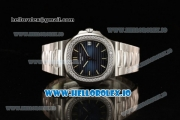 Patek Philippe Nautilus Miyota 9015 Automatic Steel Case Blue Dial With Stick Markers Steel Bracelet - 1:1 Original