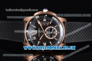 Cartier Calibre de Cartier Diver Asia ST16 Automatic Rose Gold Case with Black Dial Roman Markers and Black Rubber Strap