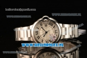 Cartier Ballon Bleu De Large Swiss ETA 2836 Automatic Steel Case Silver Dial Roman Numeral Markers and Steel Bracelet - 1:1 Original