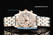 Breitling Chronomat B01 Swiss Valjoux 7750 Automatic Movement Full Steel with White Dial - RG Roman Markers