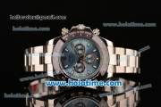 Rolex Daytona II Asia 3836 Automatic Full Steel with Blue Dial and Stick Markers