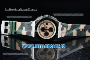 "Audemars Piguet Royal Oak Offshore 2018 SIHH ""Combat"" Clone AP Calibre 3126 Automatic Steel Case Apricot Dial With Stick Markers Green Rubber Strap - 1:1 Original (JF)"