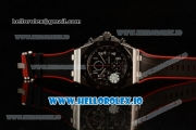 Audemars Piguet Royal Oak Offshore Chronograph Clone AP Calibre 3126 Automatic Steel Case Black Dial With Arabic Numeral Markers Red Rubber Strap - 1:1 Original (JF)
