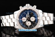 Breitling Avenger Chronograph Swiss Valjoux 7750 Movement Black Dial with White Subdials and Number Markers