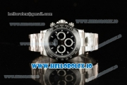 Rolex Cosmograph Daytona Clone Rolex 4130 Automatic Steel Case Black Dial With Stick Markers Steel Bracelet - 1:1 Original (AR)