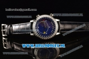 Patek Philippe Grand Complication Sky Moon Celestial Compass Miyota 9015 Automatic Steel Case with Blue Dial and Black Genuine Leather Strap (GF)